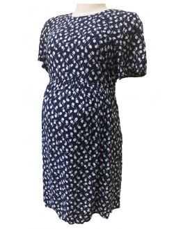 Robe habillée femme enceinte et allaitement maille bordeaux