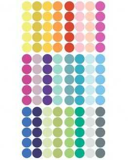 Stickers pois multicolore