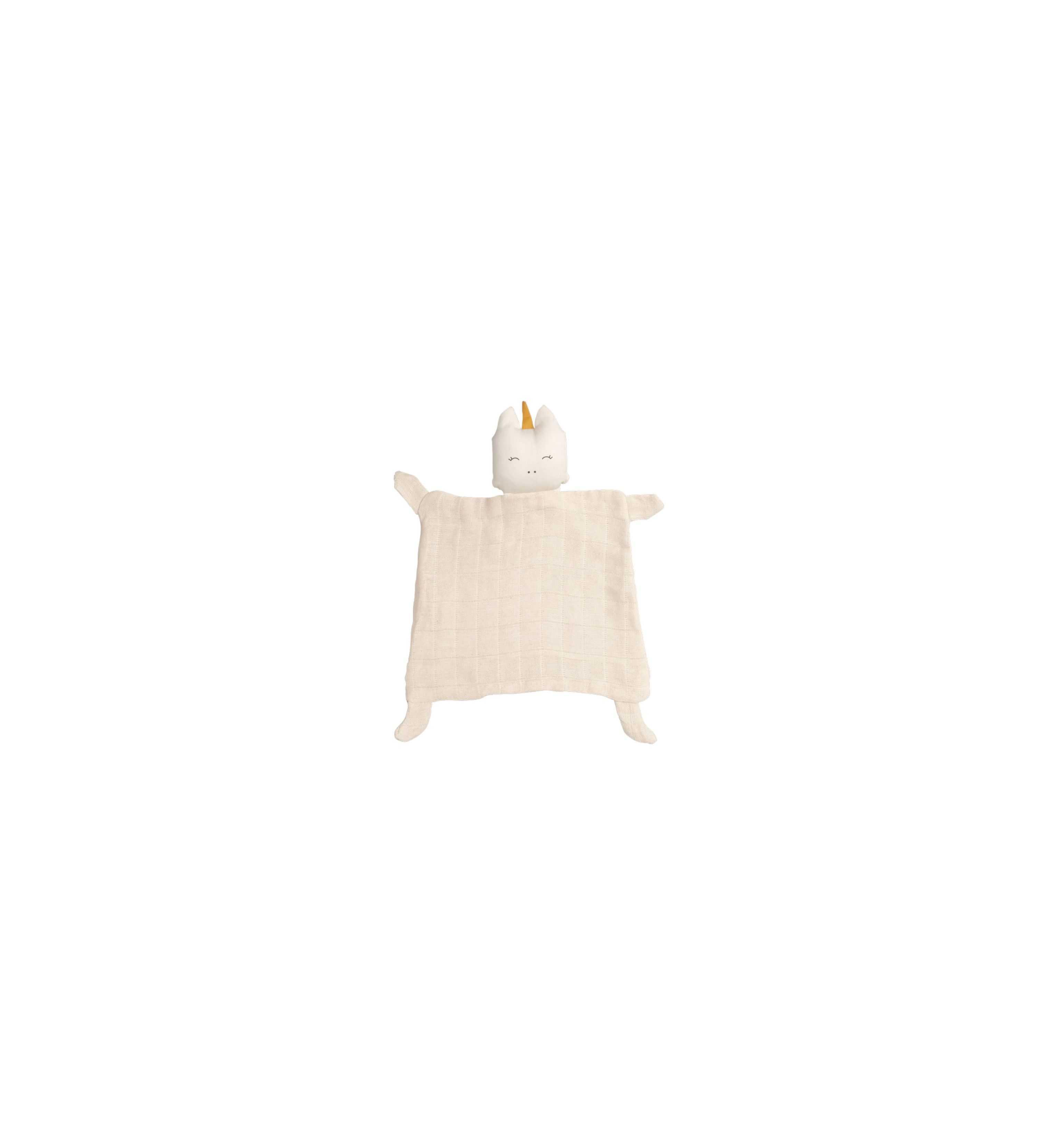 Doudou plat Licorne coton bio