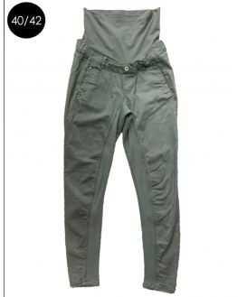 Pantalon coupe chino kaki intérieur stretch