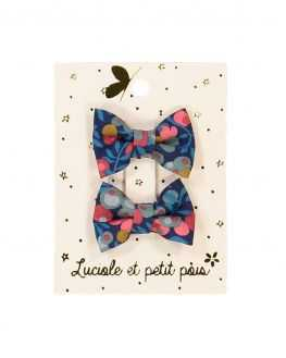 Duo mini barrettes bébé noeud Liberty Wiltshire Nausicaa
