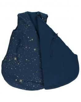 Gigoteuse hiver bleu nuit étoiles dorées