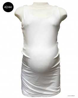 Top grossesse long blanc
