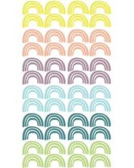 Stickers Arc en ciel multicolore