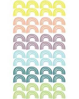 Stickers Arc en ciel multicolore