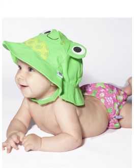 Maillot de bain et chapeau Flippy la Grenouille