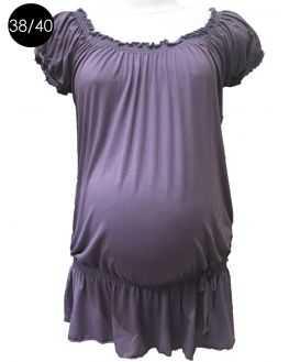 Haut femme enceinte violet coupe blousante