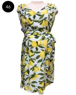 Robe de grossesse imprimé citrons